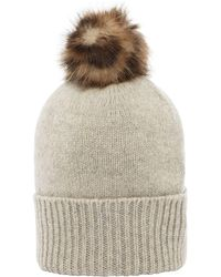 Helen Moore - Knitted Pom Pom Hat - Lyst