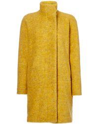 Samsøe & Samsøe - Longsleeve Wool Coat With Button Front - Lyst