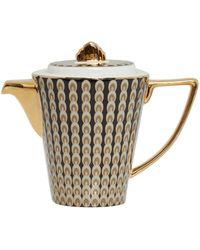 Biba Deco Peacock Teapot - Metallic