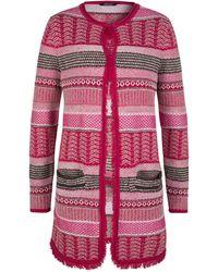 Olsen - Long Cardigan Bouclé Yarn Mixture - Lyst