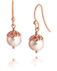 Jersey Pearl - Freshwater Pearl Drop Earrings - Lyst