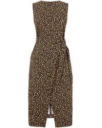 Warehouse - Leopard Compact Cotton Dress - Lyst