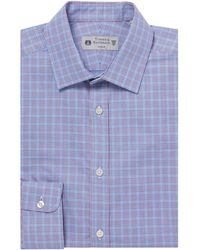 Kenneth Cole Hyde Prince Of Wales Check Shirt - Blue