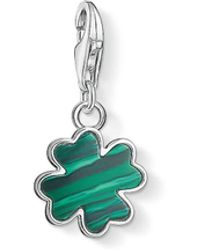 Thomas Sabo - Green Cloverleaf Charm Pendant - Lyst
