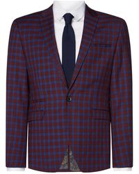 Label Lab - Men's Adams Skinny Fit Sb1 Tartan Check Suit Jacket - Lyst