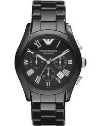 Emporio Armani - Ar1400 Mens Ceramic Bracelet Watch - Lyst
