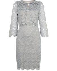 Eliza J - 2 Piece Lace Jacket Dress - Lyst