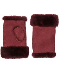 Jigsaw - Sheepskin Fingerless Mitten - Lyst