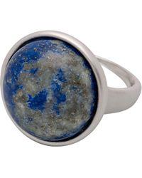 Pilgrim - Silver Plated Swirly Blue Ring - Lyst