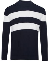 French Connection - Men's Bold Stripe Roll Neck Jumper - Lyst