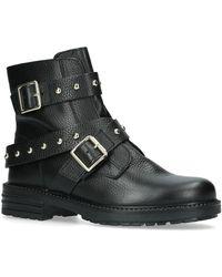 Kurt Geiger Stinger Biker Boots - Black