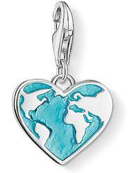 Thomas Sabo   Charm Club Globe Heart Charm   Lyst