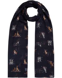 Joules - Long Line Dog Print Scarf - Lyst