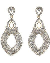Mikey - Twin Oval Loop Crystal Drop Earring - Lyst
