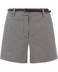 Oasis Gingham Belted Short - Multicolour
