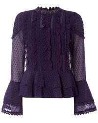 Biba Victorian Blouse - Purple