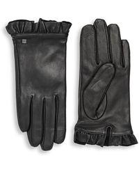 Lauren by Ralph Lauren Ruffle Gloves - Black