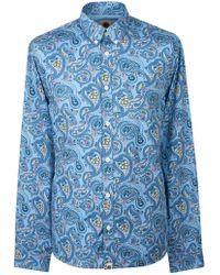 Pretty Green - Men's Slim Fit Paisley Print Shirt - Lyst