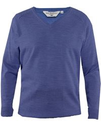 Double Two - Men's Long Sleeved V Neck Sweater - Lyst
