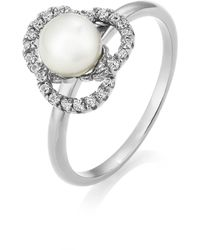 Jersey Pearl | Freshwater Pearl And White Topaz Ring | Lyst