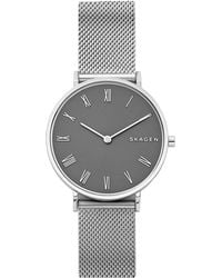 Skagen - Slim Hald Stainless Steel Mesh Bracelet Watch - Lyst