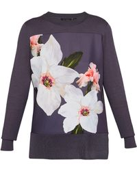 Ted Baker - Jiosefi Chatsworth Woven Front Jumper - Lyst