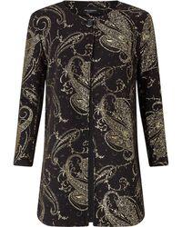 James Lakeland Gold Print Jacket - Black