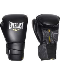Everlast Pro 3 Hook And Loop Boxing Gloves - Black