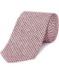 Chester Barrie - Silk Tie - Textured Houndstooth - Lyst
