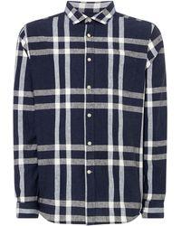 Howick - Men's Linen Bold Check Shirt - Lyst