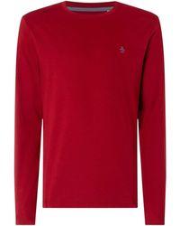 Original Penguin Pin Point Red Long Sleeve Shirt