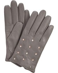 Ted Baker - Scattered Crystal Pearl Leather Glove - Lyst