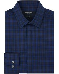 Kenneth Cole St Louis Tonal Checked Shirt - Blue