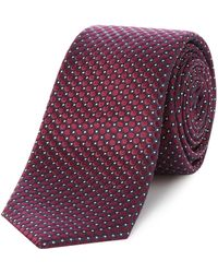 Kenneth Cole - Irving Woven Burgundy Spot Tie - Lyst