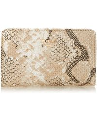 Dune Karlow Chunky Zip Compartment Purse - Natural