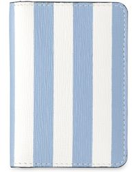 Whistles Saffiano Stripe Card Holder - Black