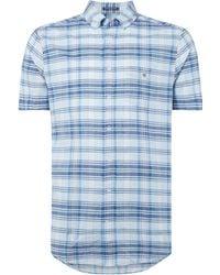 GANT - Men's Checked Madras Shirt - Lyst