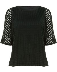 Phase Eight - Saskie Square Burnout Top - Lyst
