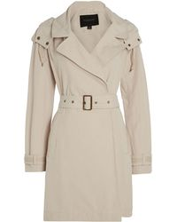 Andrew Marc - Brooke Trench Coat With Hood - Lyst