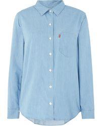 Levi's | Sidney Boyfriend Shirt With Chest Pocket | Lyst
