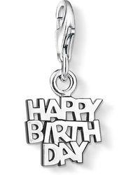 Thomas Sabo - Charm Club Happy Birthday Pendant - Lyst