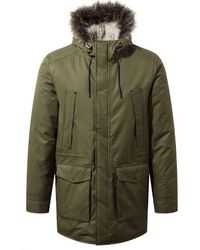5d223946e90 Craghoppers Black Pepper Argyle Waterproof Insulating Parka in Gray ...