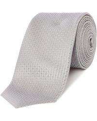 HUGO - Step Jacquard Tie - Lyst