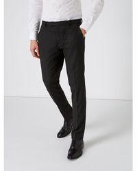Label Lab Jones Skinny Fit Twill Suit Trousers - Black