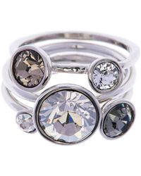 Ted Baker | Jackie Silver Jewel Stack Ring | Lyst