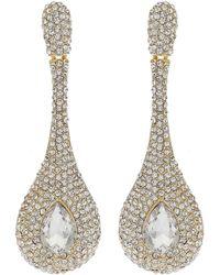 cfb52b66299b0 Triple Eclipse Crystal Studded Earring - Metallic