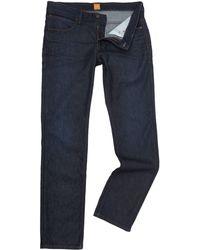 BOSS - Orange 63 Dark Blue Slim Fit Jean - Lyst
