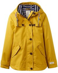 Joules Waterproof Hooded Jacket With Toggle - Yellow