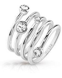 Guess   Crystal Beauty Ring   Lyst