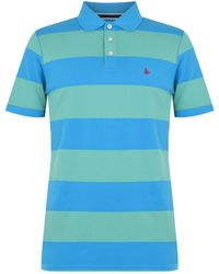 Jack Wills Jack Striped Polo Shirt - Blue